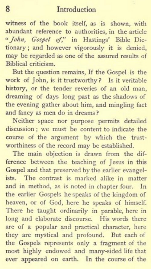 a literary analysis of the gospel of john Summary the gospel of john is the latest-written of the four biographies of jesus that have been preserved in the new testament written by a christian named jo  literature notes new.