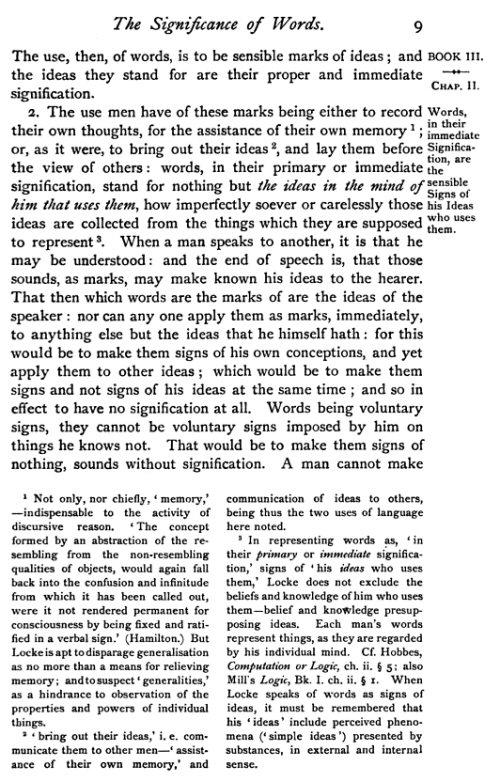 Essay concerning human understanding book iii