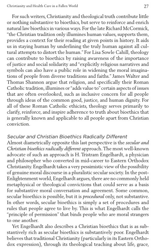 christianity bioethics essay Bioethics: roman catholicism vs buddhism the following essay will contain similarities and just as it is violating the ten commandments in christianity.