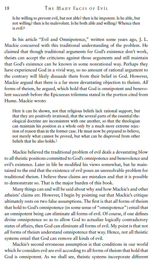 an argument on the problem of evil and the solution that states god allows evil to exist The problem of evil essay i believe both of these ideas that god can exist while there is evil and god is the argument for the problem of evil states that.